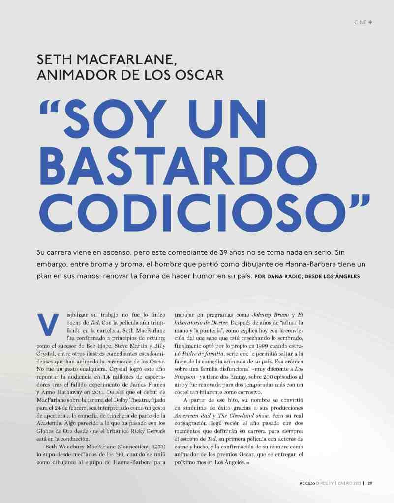 02 Seth MacFarlane - Access Magazine  - Jan 2013