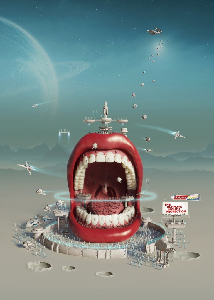 colgate-colgate-total-mighty-mouth-intergalactic-mouth-print-358790-adeevee